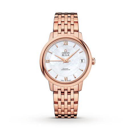 Omega De Ville Prestige 18ct Rose Gold Automatic Co-Axial Watch