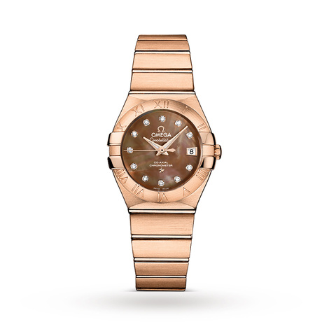 Omega Constellation Ladies 27mm 18ct Rose Gold Automatic Watch