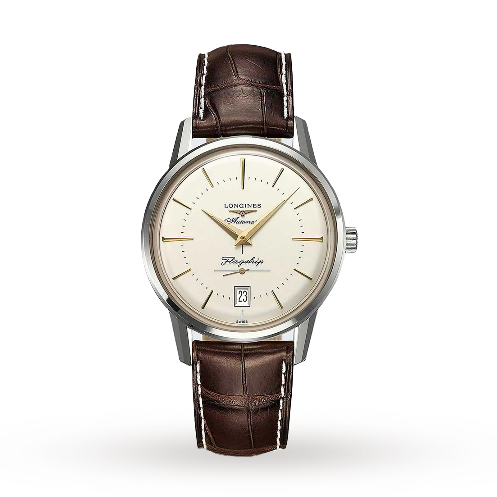 Longines Heritage Flagship Mens 38.5mm Automatic Watch