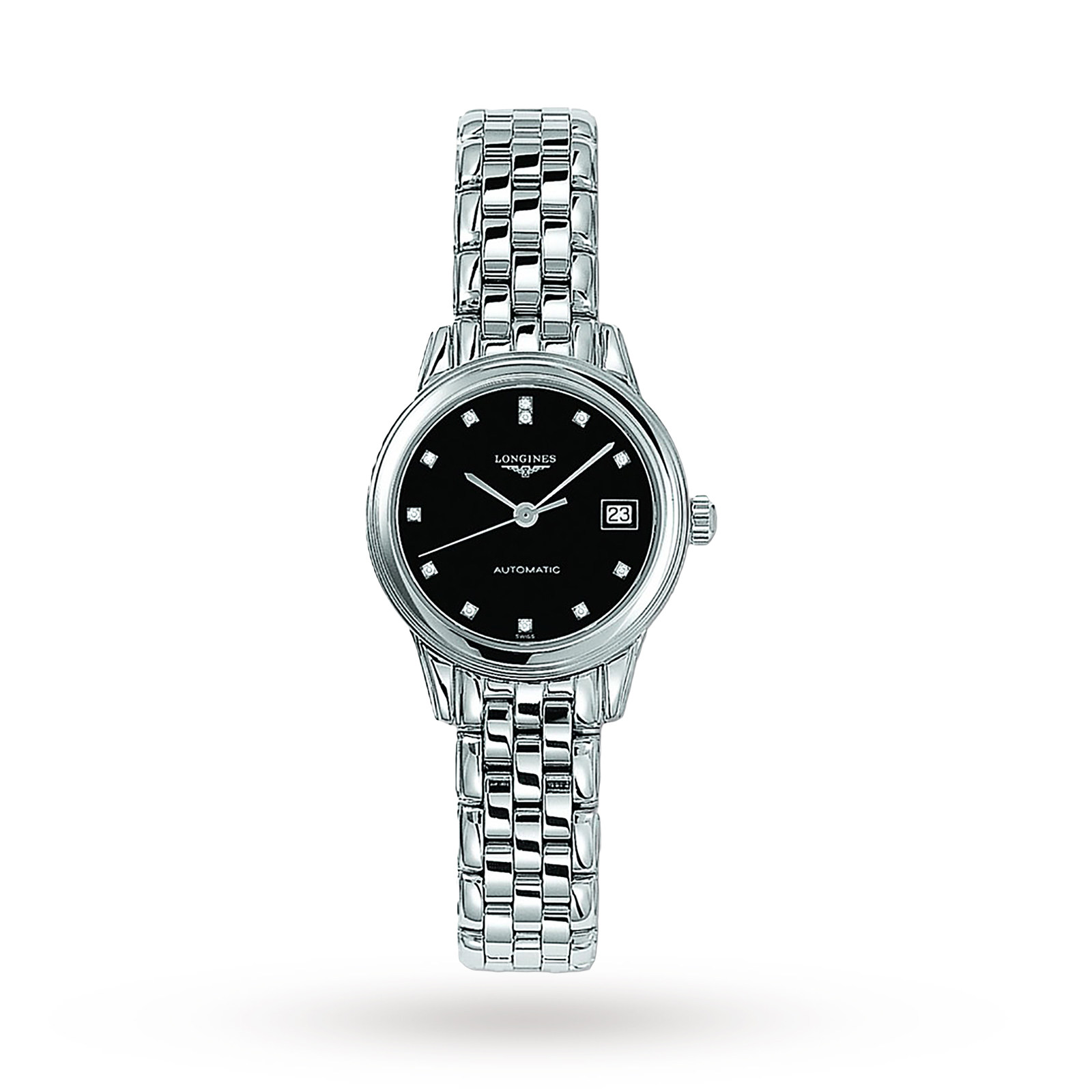 Longines Flagship Ladies 26mm Diamond Dot Automatic Watch