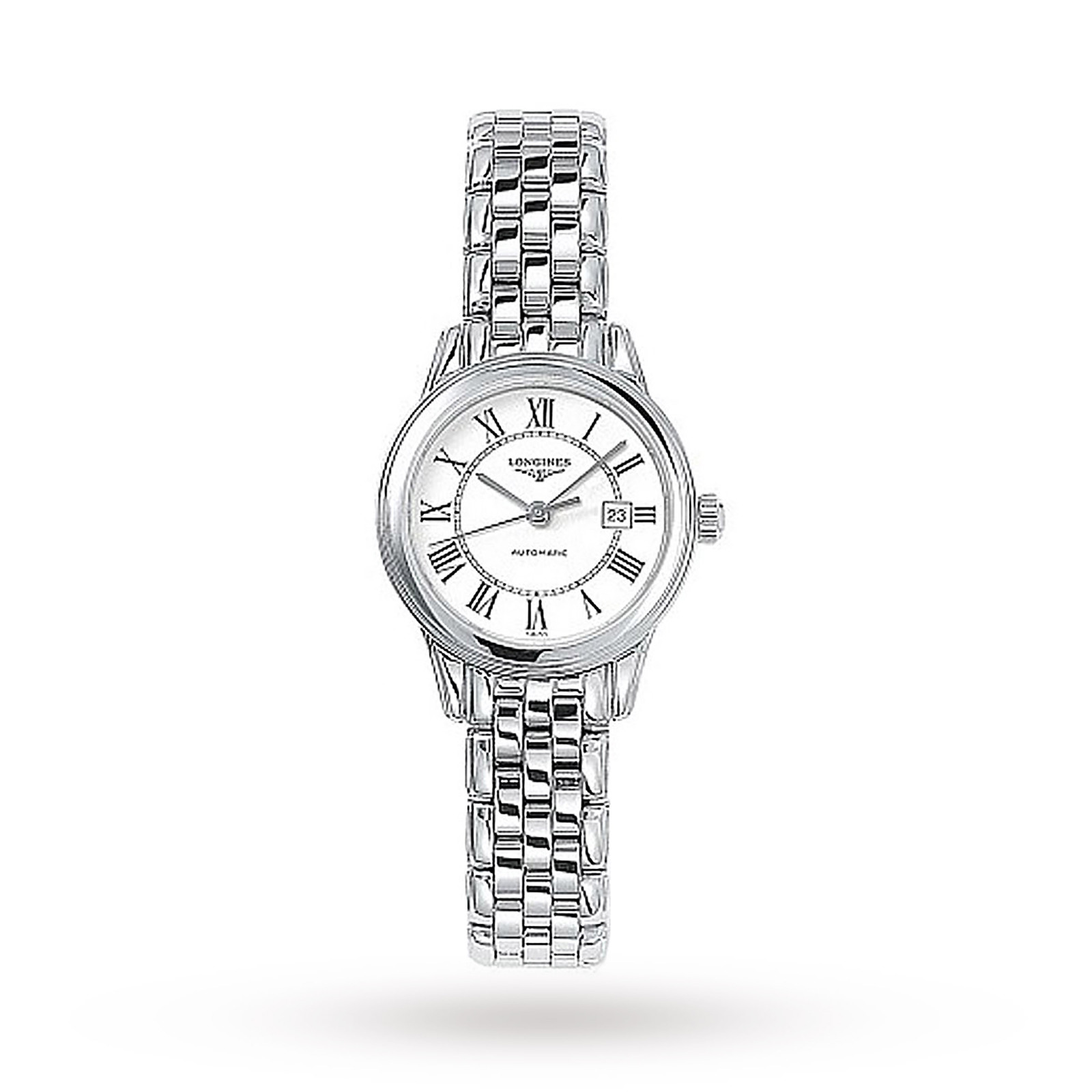 silver watch essential baume clifton bracelet mercier steel dial rose in gold on main womens tone and automatic watches