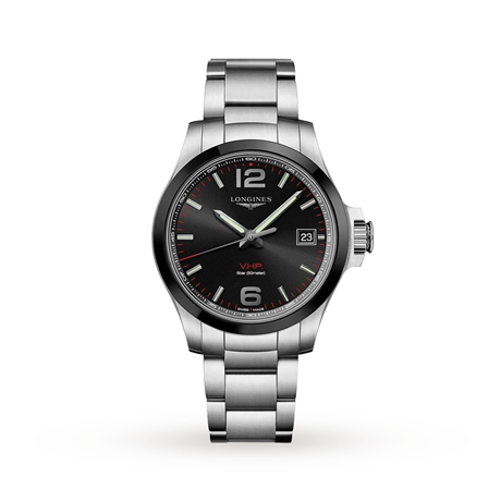 Longines Conquest V.H.P. 41mm Black Dial Stainless Steel