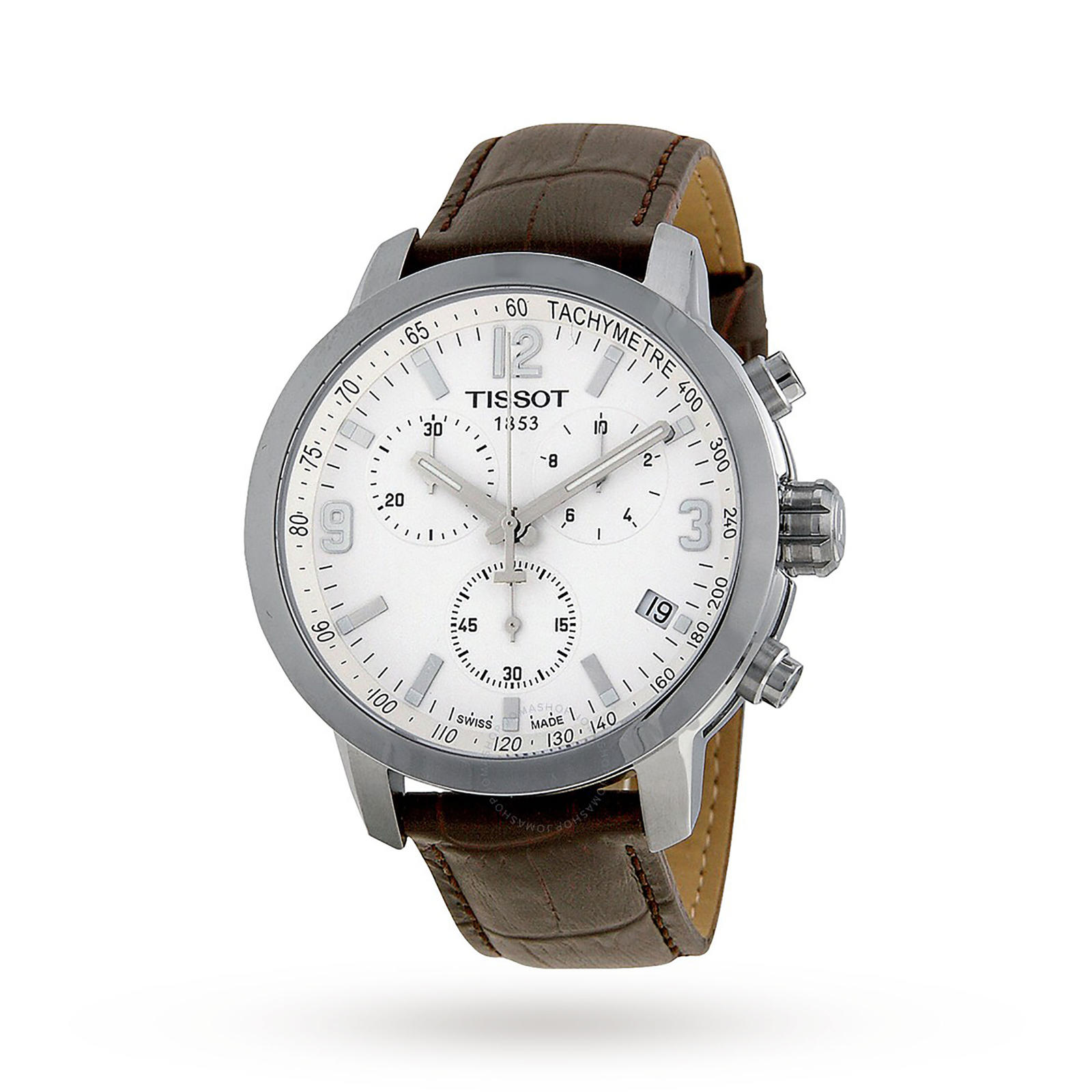 Tissot PRC 200 Chronograph White Dial Mens Watch