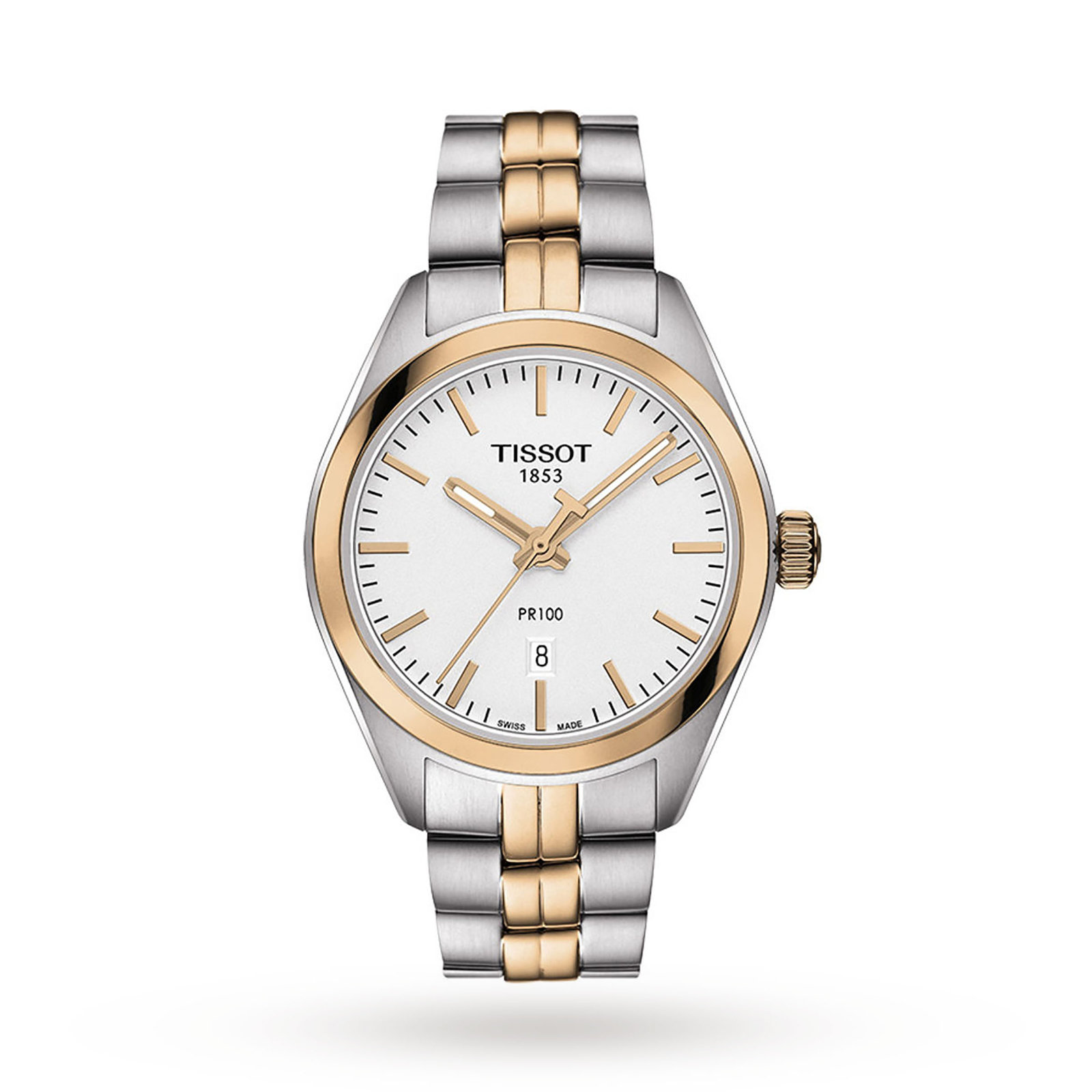Tissot PR 100 Two Tone Quartz Ladies Watch