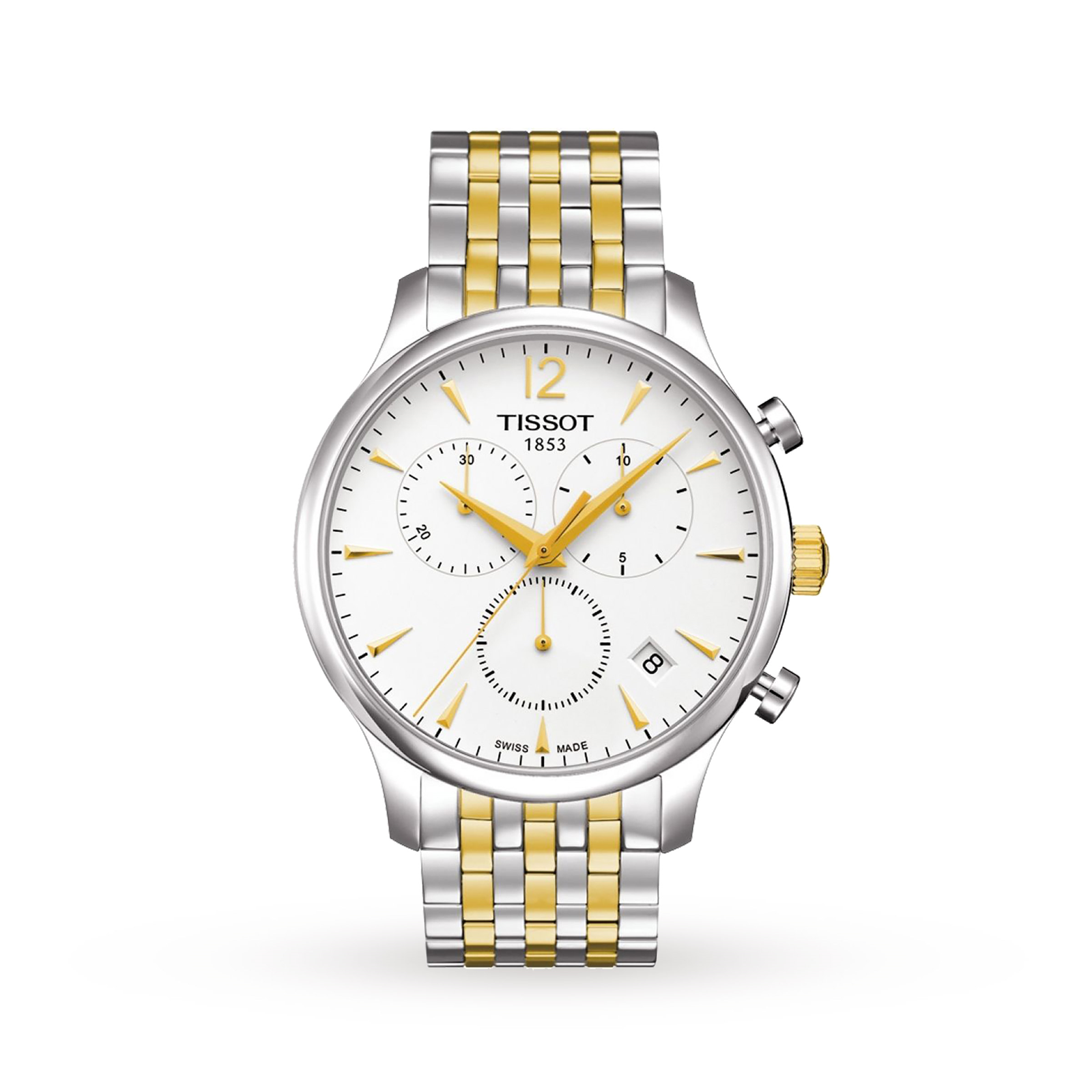 Tissot T-Classic Tradition Two-Tone Chronograph T0636172203700