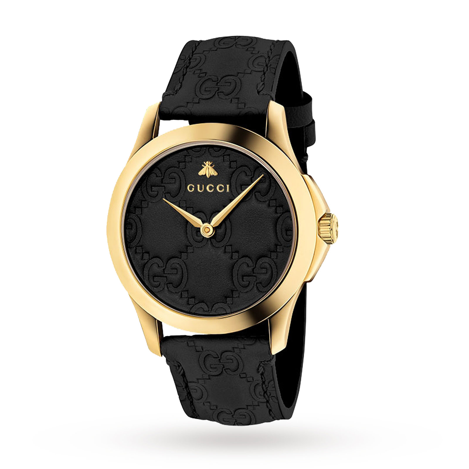 0fd0c3a567c Gucci G-Timeless Black Leather Watch YA1264034