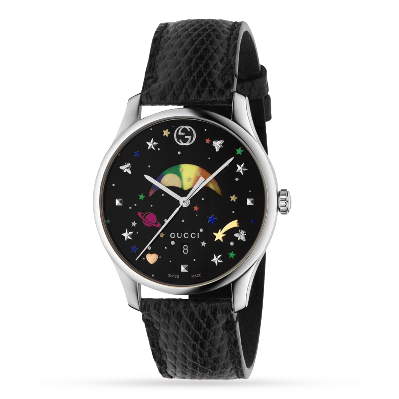 strap product s black l month davis leather men date watch phase classic watches zoom mens wristwatch dial square moon day