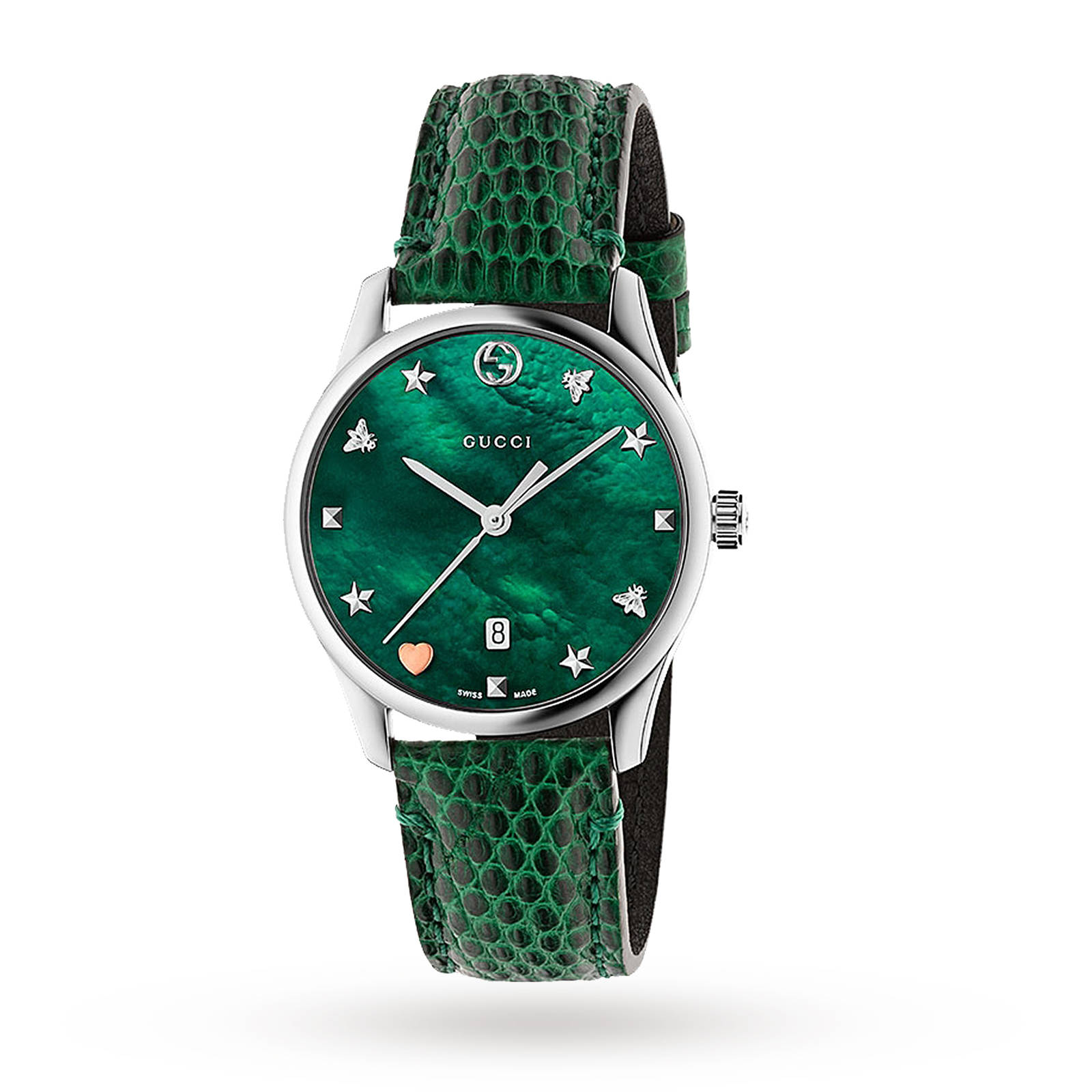 9ca37407338 Gucci G-Timeless Green Leather Watch YA1264042