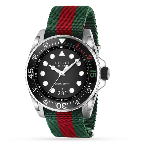 Gucci Dive Fabric Strap Mens Watch YA136209A