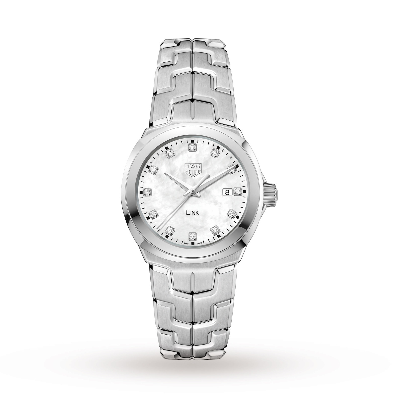 TAG Heuer Link Ladies Quartz Date Mother Of Pearl Watch