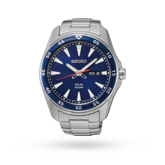Seiko Mens Solar Powered Watch SNE391P1