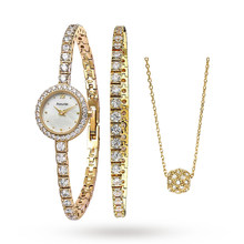 Ladies Accurist Bracelet & Necklace Gift Set Watch LB1803