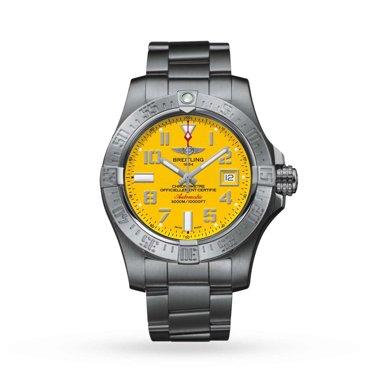 avenger seawolf watch automatic breitling dial s ii watches yellow men