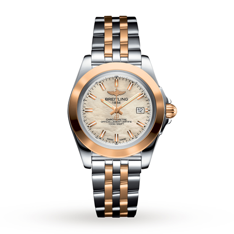 Breitling Galactic 32 Sleek Steel & Rose Gold Ladies Watch