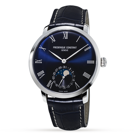 Frederique Constant Slimline Moonphase 42mm Mens Watch FC-705NR4S6