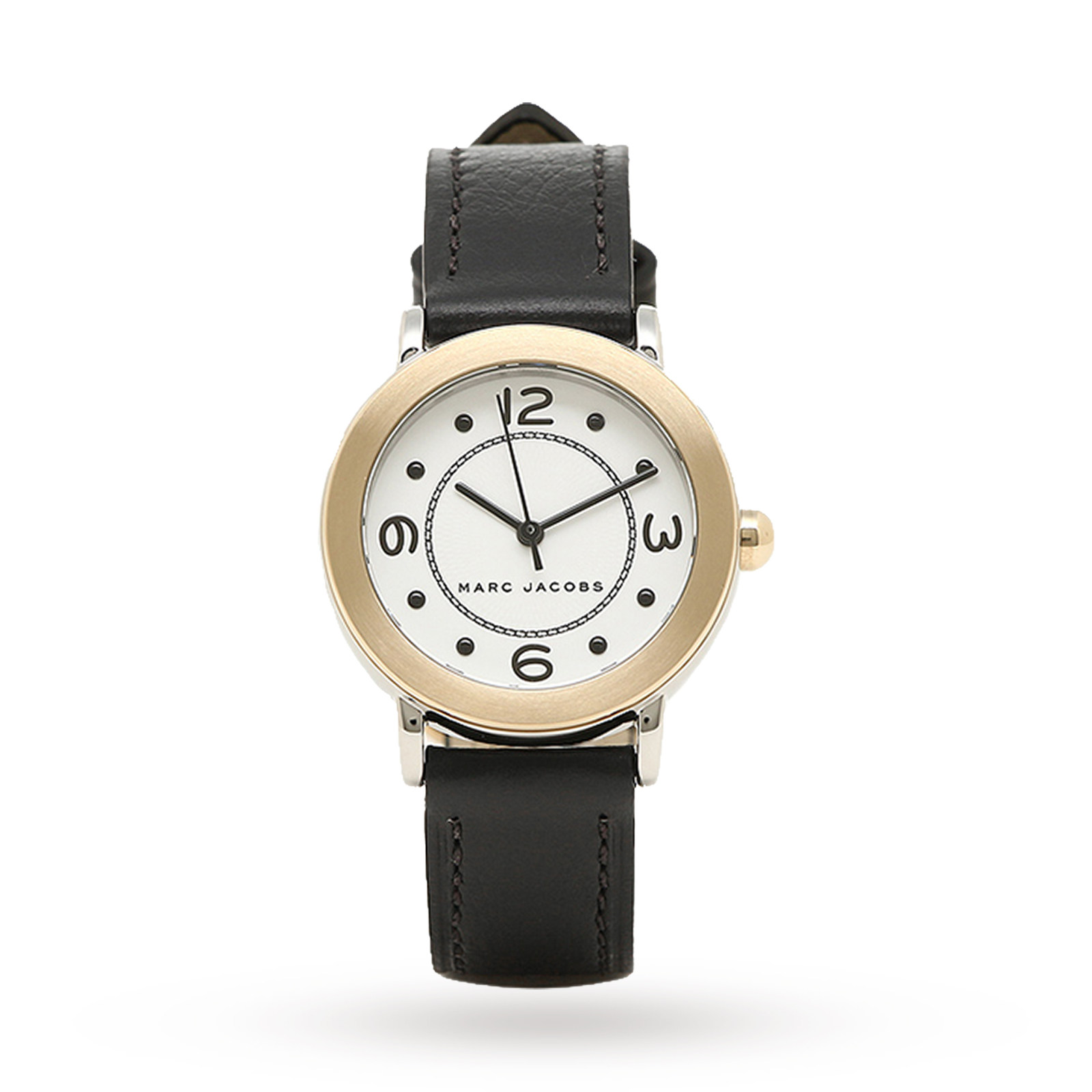Marc Jacobs Womens Riley Black Leather Strap Watch 28mm MJ1516