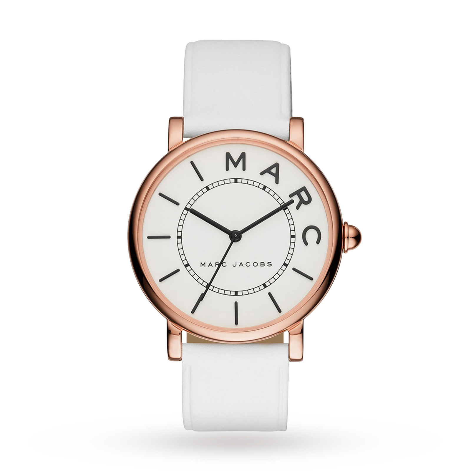 Marc Jacobs Womens Classic White Leather Strap Watch