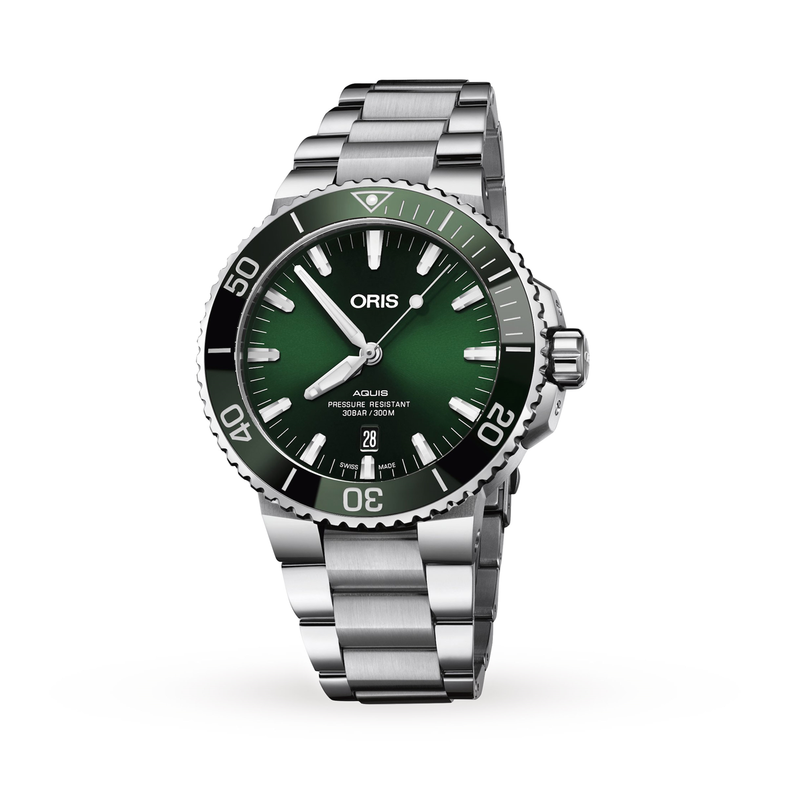 Oris Aquis Green Dial Mens Watch