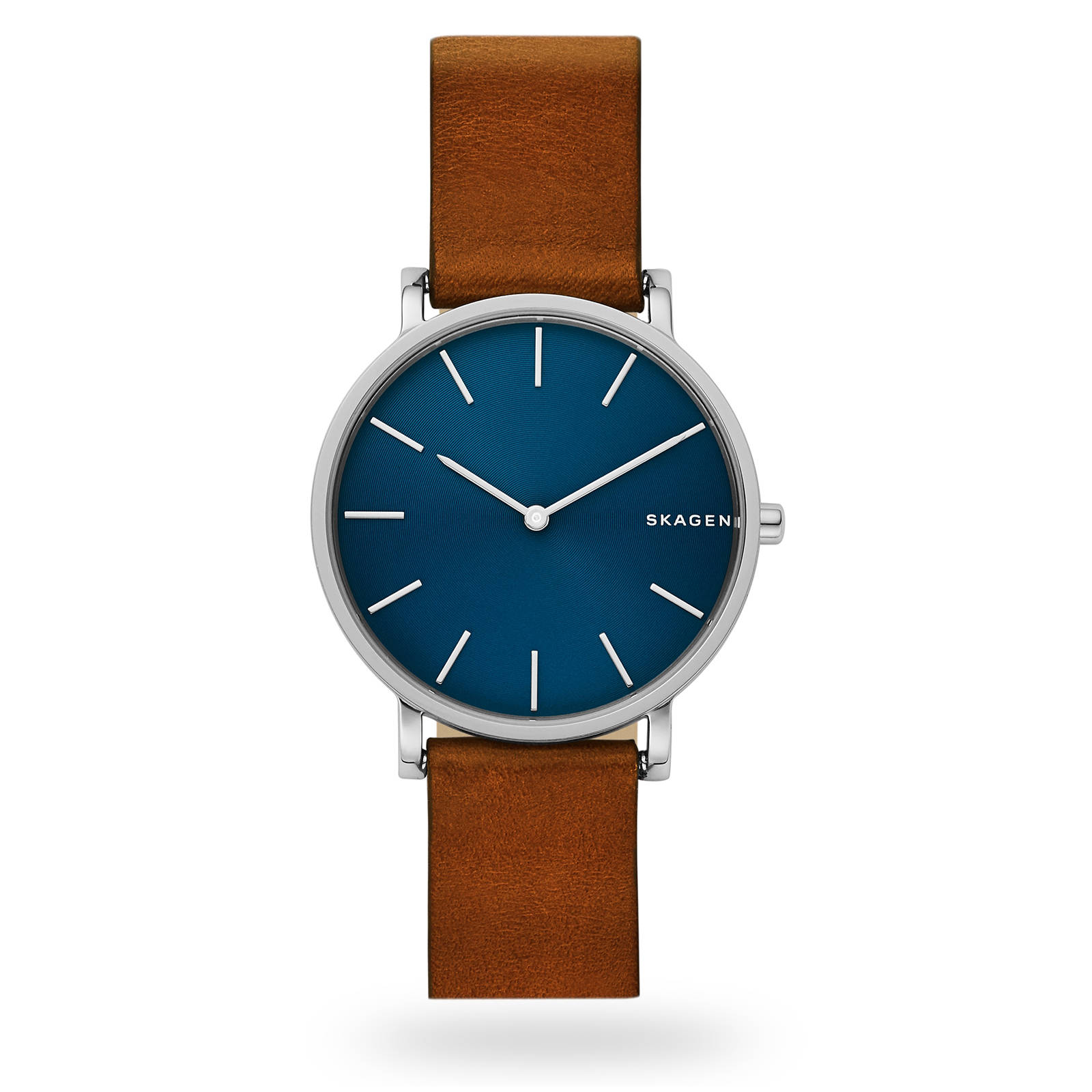 Skagen Slim Brown Leather Watch SKW6446