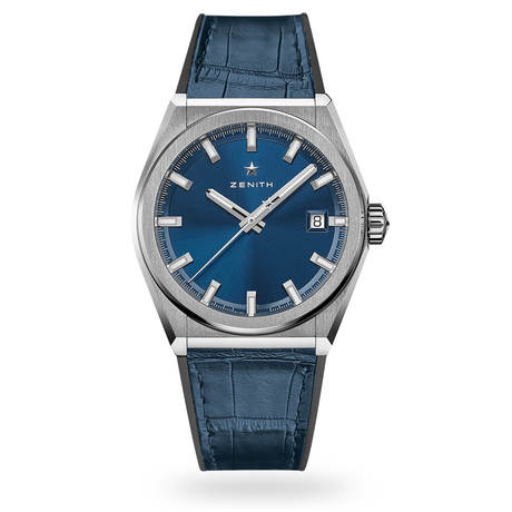 Zenith Defy Classic Blue Strap Mens Watch