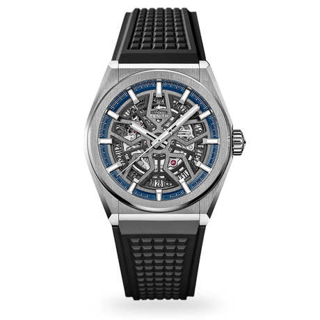 Zenith Defy Classic Rubber Strap Mens Watch