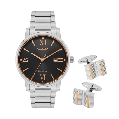 Citizen Mens Gift Set With Cufflinks