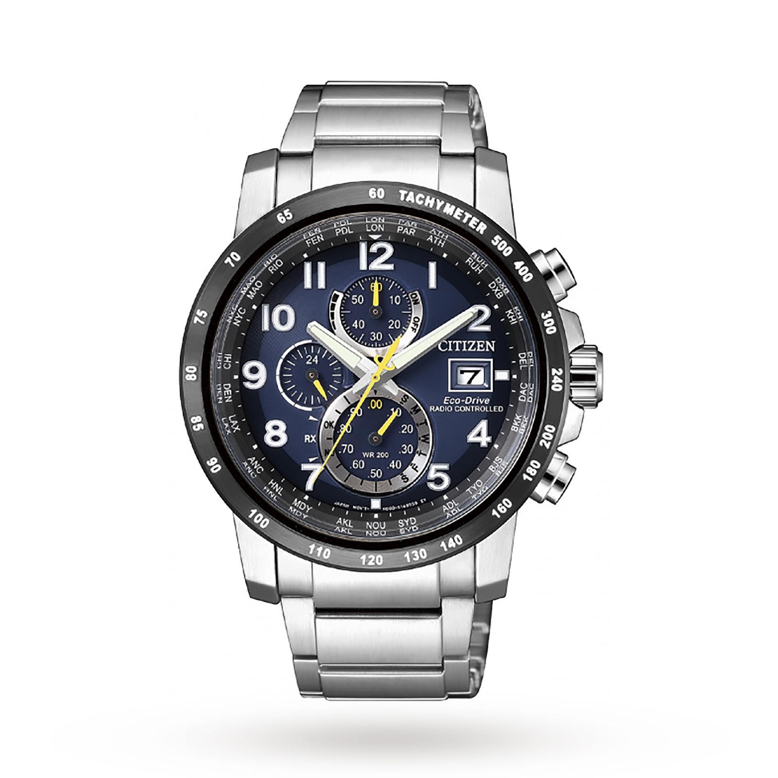 Citizen AT8124-91L Mens Chronograph Tachymeter Date Eco-D ...