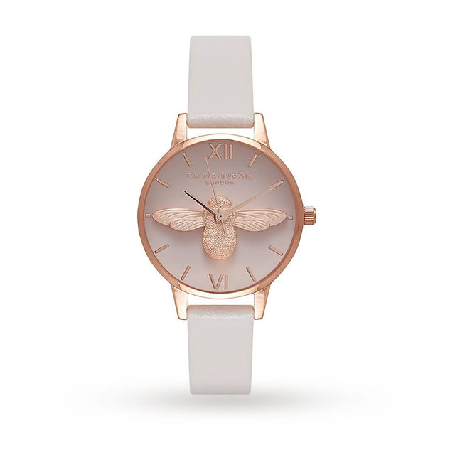 Olivia Burton Moulded Bee Blush Dial Blush & Rose Gold