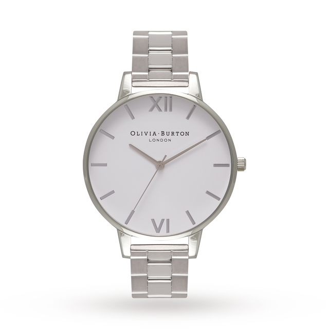 Olivia Burton Ladies White Dial Bracelet Watch