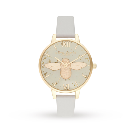 Olivia Burton Celestial 3D Bee, Pearl Pink & Gold