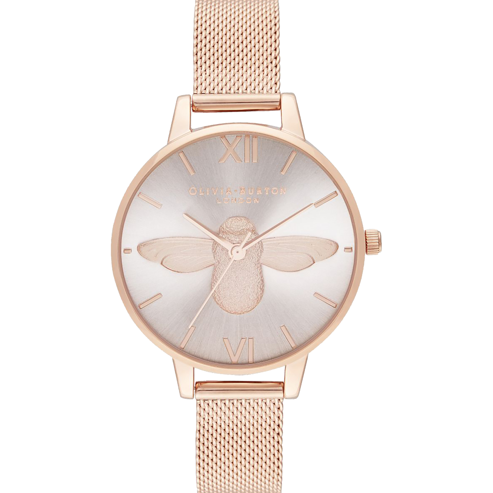 Olivia Burton 3D Bee Rose Gold & Rose Gold Watch