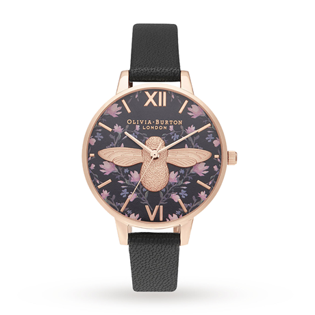 Olivia Burton Meant to Bee Demi Black Ladies Watch