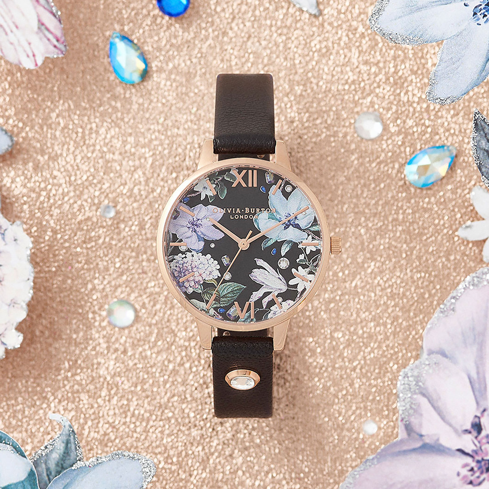 Olivia Burton Bejewelled Florals Embellished Ladies Watch