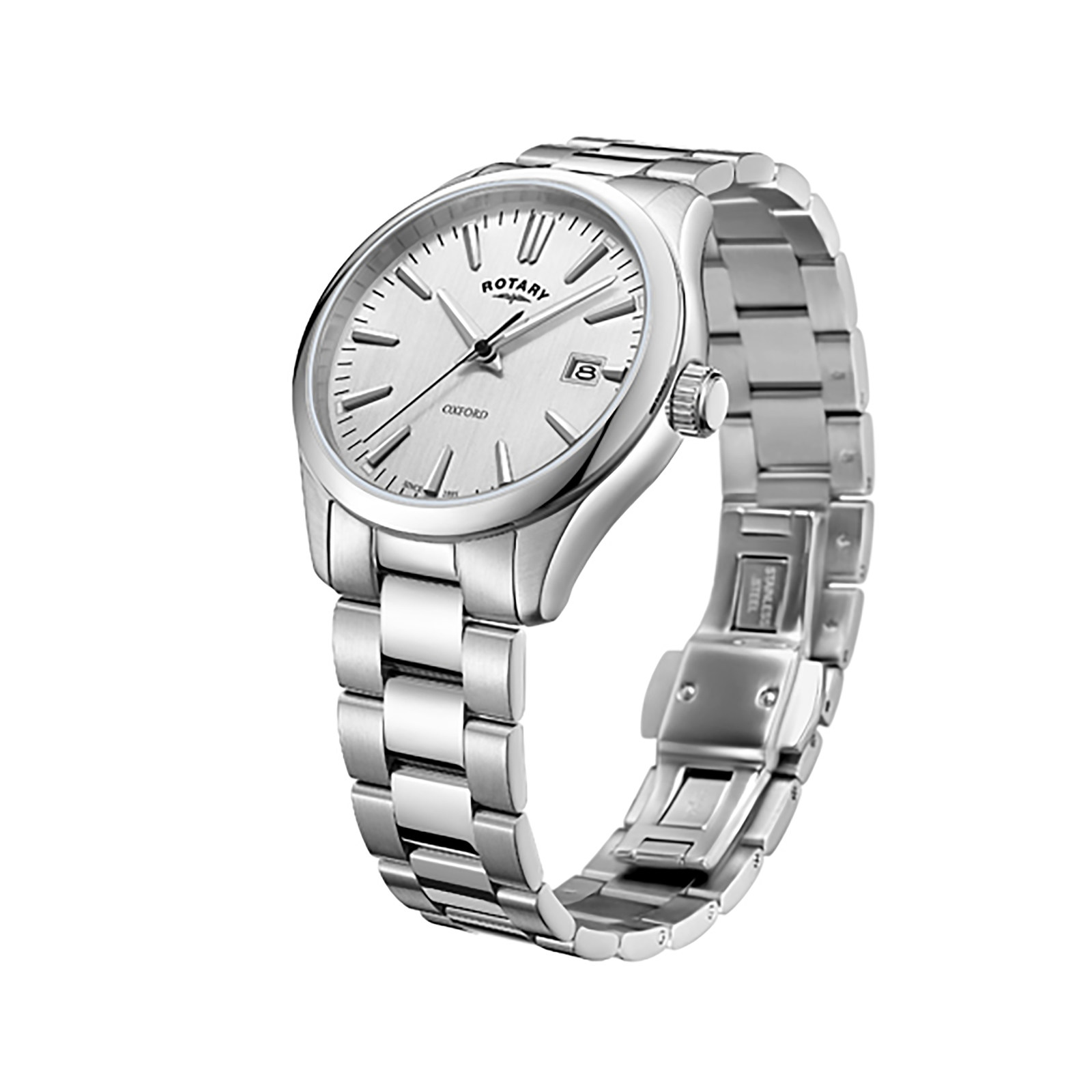 london watches noble of links steel bracelet silver watch slim womens image stainless