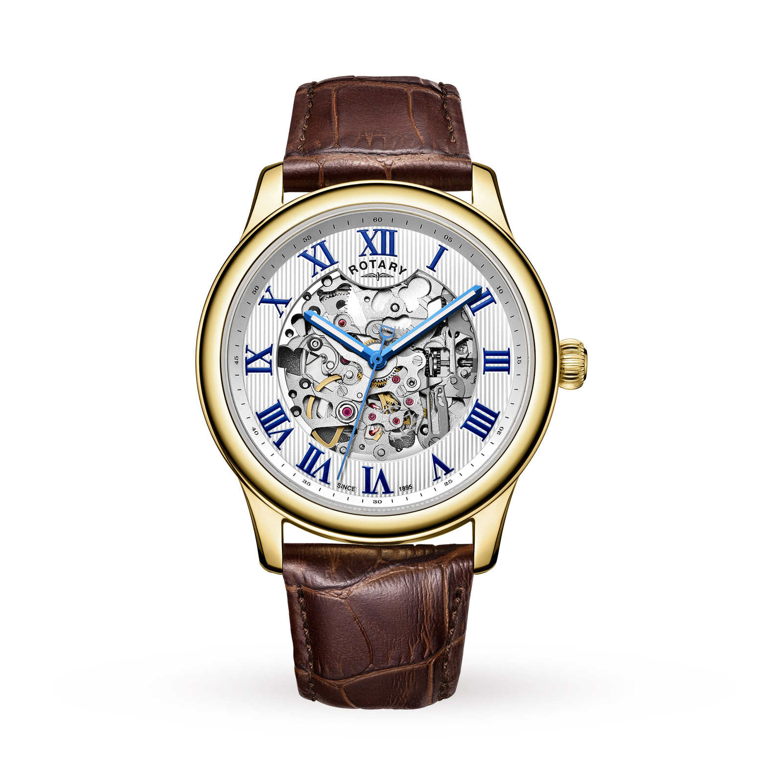 Rotary Mens Exclusive Skeleton Automatic Watch