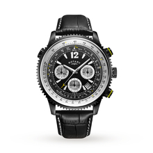 Mens Rotary Exclusive Pilot Chronograph Watch GS00649/19