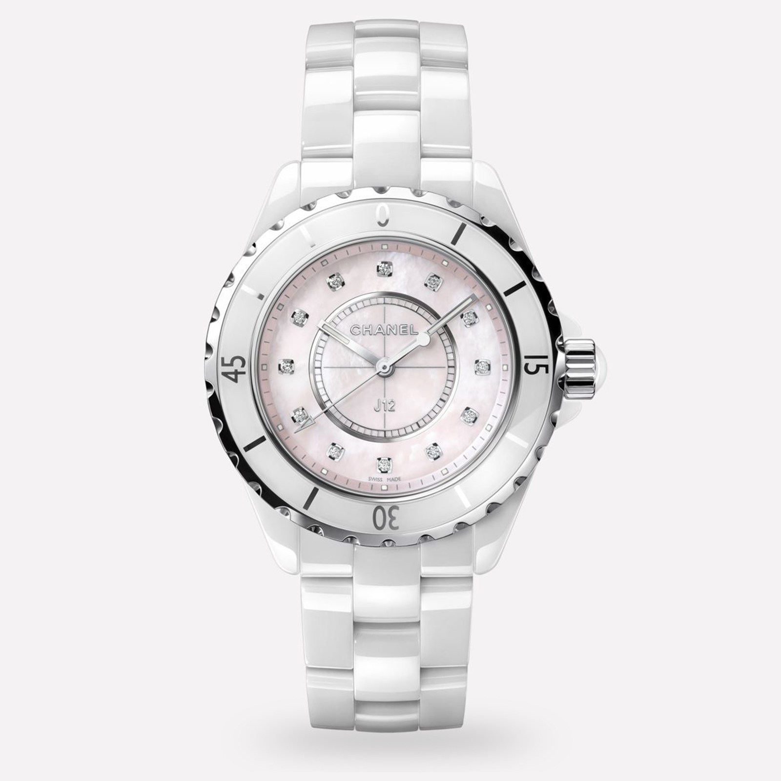 Chanel J12 White Ceramic and Steel H5513 33mm