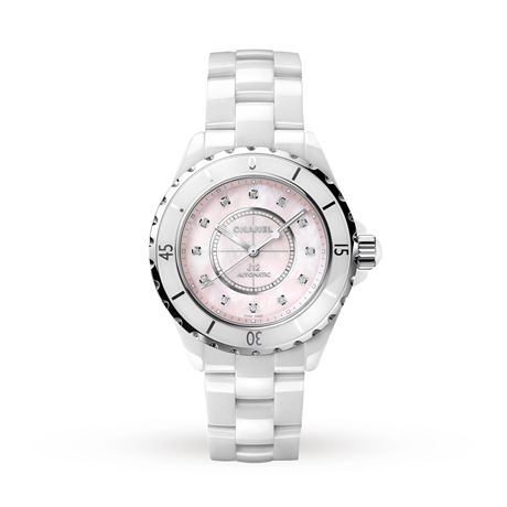 Chanel J12 Automatic Ceramic Mother-Of-Pearl Dial Ladies Watch