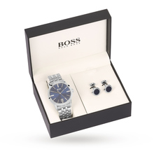 For Him - BOSS Mens Gift Set Navy and Cufflinks - 1570047