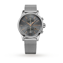 Hugo Boss Mens Stainless Steel Mesh Chronograph Watch 1513440