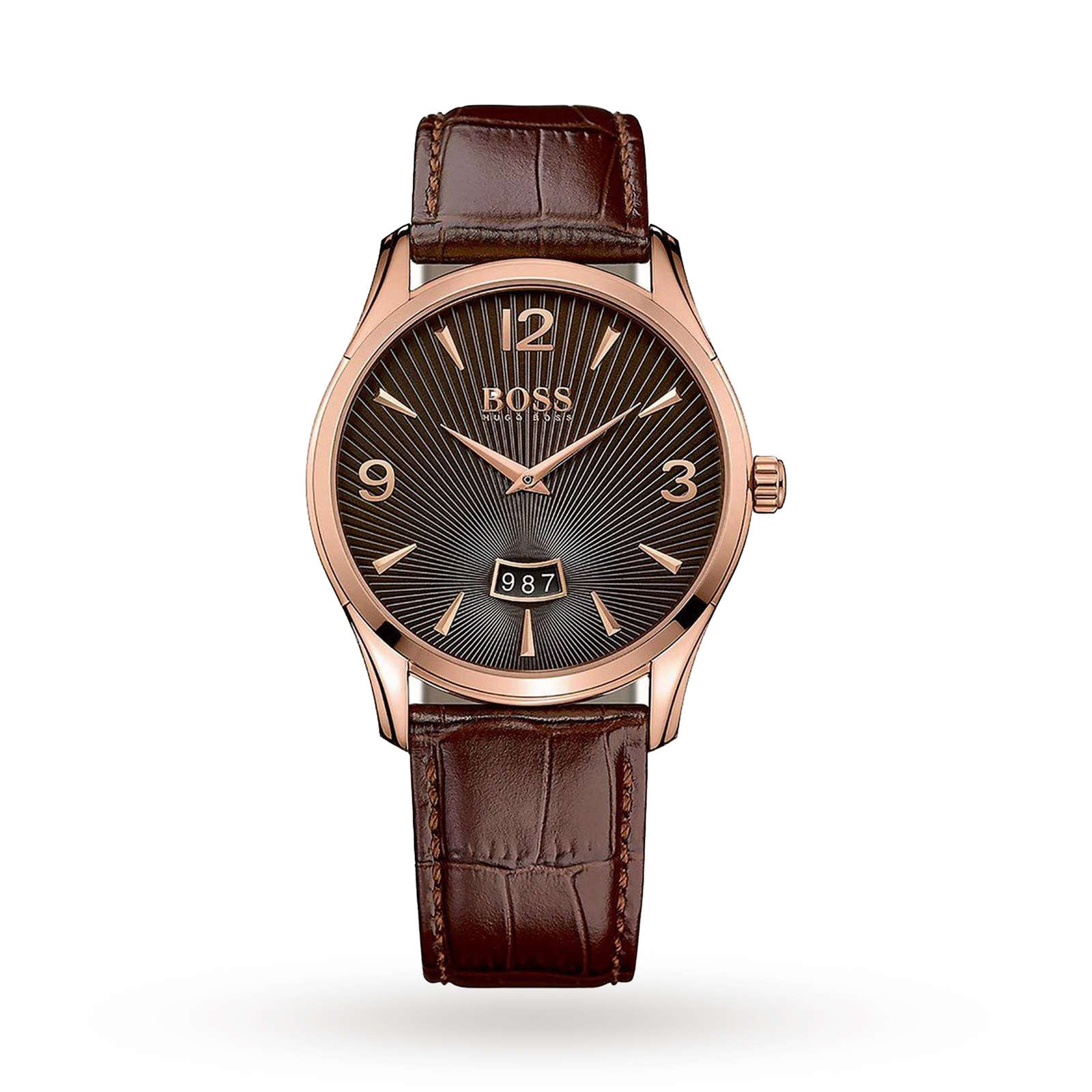 649c4e8d529e Mens Hugo Boss Commander Brown Leather Strap Watch | Mens Watches | Watches  | Goldsmiths