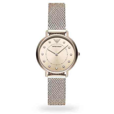 Armani Kappa Gold Tone Mesh Ladies Watch AR11129