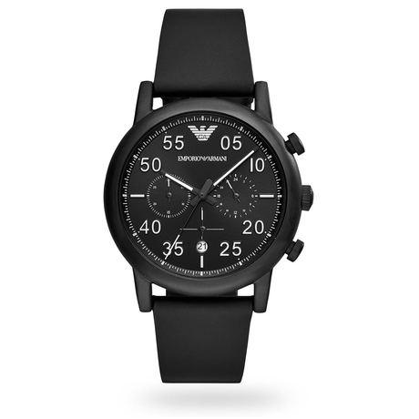 Mens Luigi Chronograph Black Strap Watch AR11133