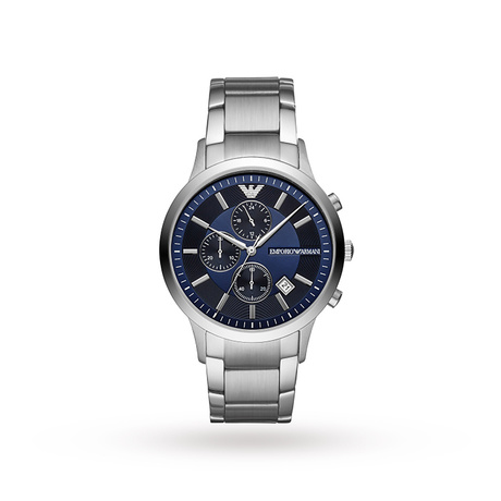Armani Renato Stainless Steel and Blue Dial Gents Watch AR1164