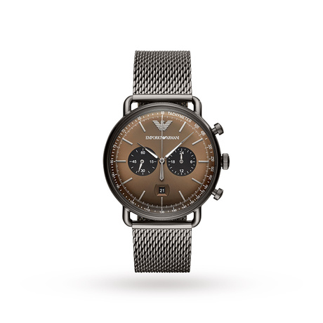 Armani Aviator Brown Dial Gents Watch AR11141
