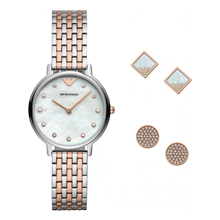 Emporio Armani Watch & Earring Ladies Gift Set
