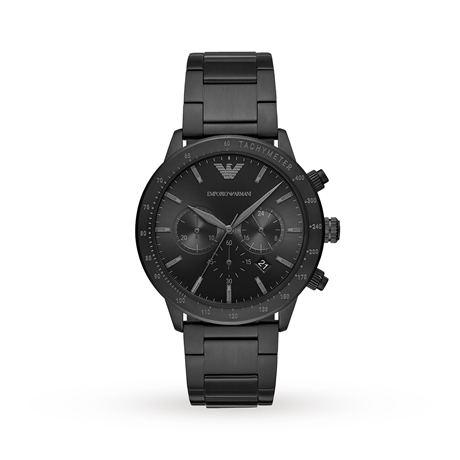 Emporio Armani Men's Chronograph Black Stainless Steel Watch