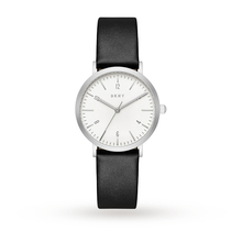 DKNY Ladies Black Leather Strap Watch NY2506