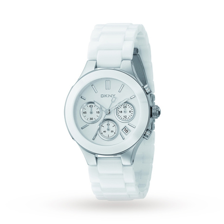 DKNY Ladies Chambers Ceramic Chronograph Watch