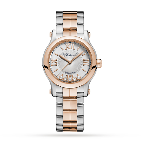 Chopard Rose Gold Happy Sport Mini Automatic 30mm Ladies Watch